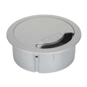 Salida cables de 102 mm de diámetro para instalación en mobiliario o suelo técnico aluminio Simon K45