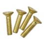 Pack de 4 tornillos para fijación de unidad portamecanismos IP66 latón Simon K45