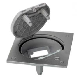 Unidad portamecanismos IP66 con cierre de seguridad para una función de 1 elemento acero inox Simon K45