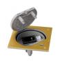 Unidad portamecanismos IP66 con cierre de seguridad y base de enchufe schuko con 1RJ45 categoría 5e UTP latón Simon K45