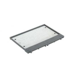 Tapa abatible para caja de suelo regulable o tapa registro pavimento o suelo técnico 12 elementos grafito Simon 500 Cima