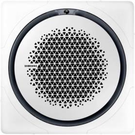Panel para cassette 360° con diseño cuadrado blanco. Dimensiones (WxHxD): 1.000x66x1.000 mm